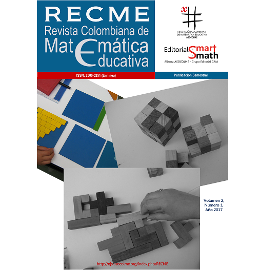 Revista Colombiana de Matemática Educativa, Volumen 2, Número 1, Año 2017